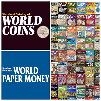 75 KRAUSE Coins and Banknotes Catalogs. Price is For One. Digital PDF Format