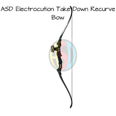 ASD Electrocution Archery Take Down Recurve Bow Black ** Show Room Model 001 **