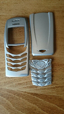 New Nokia 6100 Front Cover Fascia Rear Cover & Keypad Silver