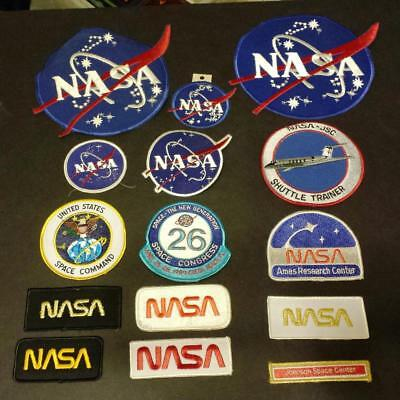 """15 Mixed Lot of NASA """"Meatball"""" & Other Program Patches"""