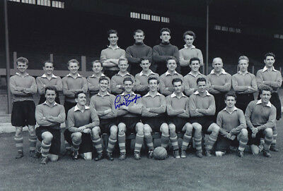 *REDUCED PRICE* HAND SIGNED 12x8 PHOTO LIVERPOOL 1954 LOUIS BIMPSON
