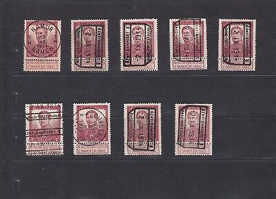 1290 Belgium Belgique Belgie Stamps Used King Albert 1912 5Fr violet brown Large