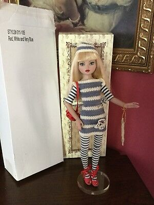 Ellowyne Wilde RED WHITE and VERY BLUE  DOLL MIB # 011-105