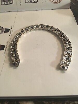 David Yurman link chain bracelet in Sterling silver 925.  Size 9 inches XXL