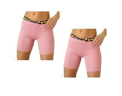 (Small, Pink/Pink) - 2 Pack Special! SafeTGard Womens Regular-Rise Sliding