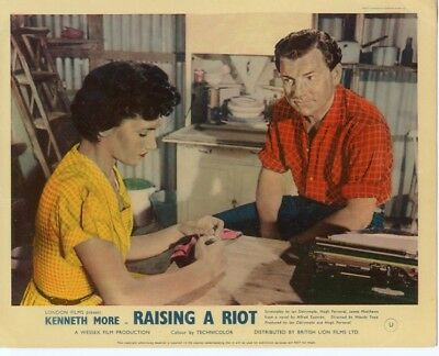 Raising A Riot - Kenneth More - Full Set Of 8 British Lobby Cards