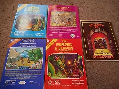 1980/1981 Tsr Dungeons & Dragons Module/rules/catalog Lot Of 5