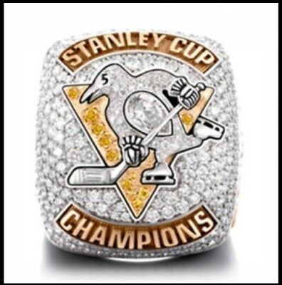 SZ 14 2017 Pittsburgh Penguins Hockey Stanley Cup Championship Ring HOCKEY PRIZE