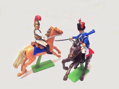 Britains Deetail -Waterloo French British Cavalry Hussar Cuirassier World Ship 1