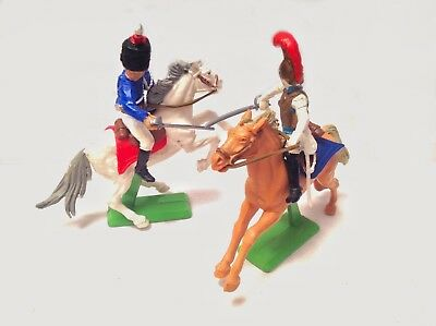 Britains Deetail -Waterloo French British Cavalry Hussar Cuirassier World Ship 2