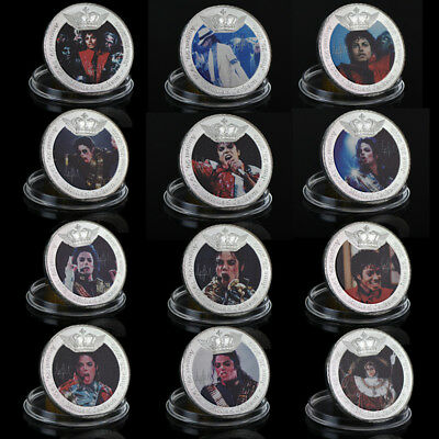 WR 999 SILVER Plated Michael Jackson King of Pop Commemorative Coins 12 Design