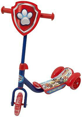 Kids Children Adjustable Paw Patrol 3 Wheel Push Scooter Tri Ride On Toy Gift