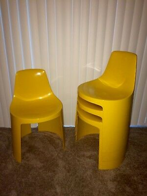 Mid-Century, Space Age Overman AB Stackable Tango Chairs (Set of 4)