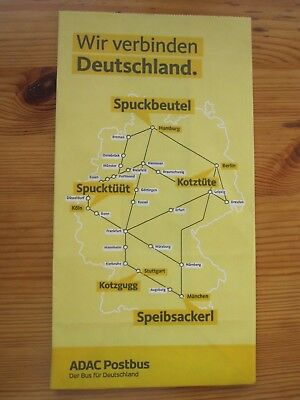 Postbus* Air sickness bag * defunct * Deutschland* Spuckbeutel