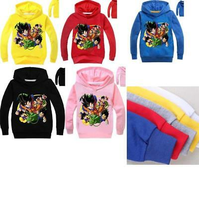 Kids Boy Girl Dragon Ball Z Goku Long Sleeve Pullover Hooded Sweatshirt Hoodies