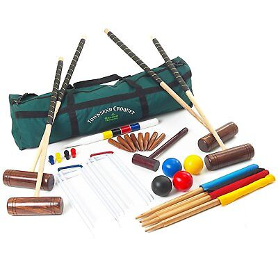 Townsend Croquet Set - 4 Player Full Sized Croquet Set in a Canvas Carry Bag
