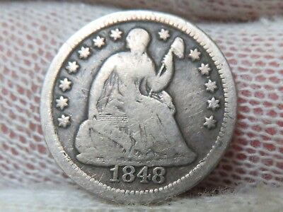 1848 O Silver Seated Liberty Half Dime and free shipping
