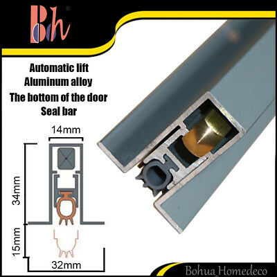 Automatic Door Bottom Seal Aluminum Weatherstrips Silicone Sealing Strips M011
