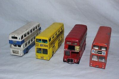 Vintage Dinky  double decker bus No 29 selection X4 buses