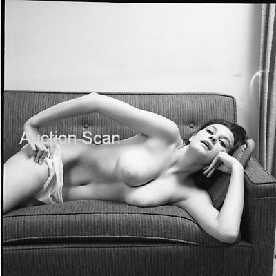Cdn-8125 Original Vintage Negative 1960's Sweet Busty Posed Solo Nude Pin-Up