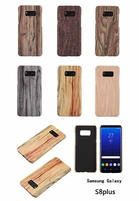 Shockproof Natural Wooden Bamboo Hard wood Case Cover for Samsung Galaxy S8 Plus