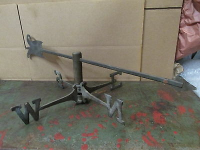 ANTIQUE WEATHERVANE DIRECTIONAL Pair Brass With Arrow (1393)
