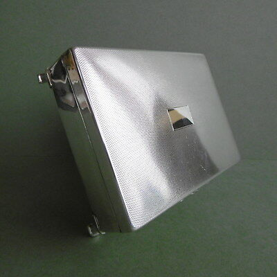 SUPERB Orig IMMACULATE ART DECO English SILVER PLATED Cigarette BOX..c1930