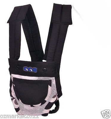 Black Security Two To Twelve Months Back-pack Baby Sling All Code/ !@&