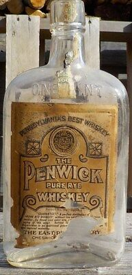 Pre-Prohibition Penwick Rye Whiskey bottle