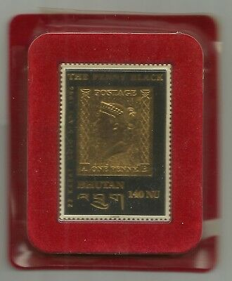BHUTAN The Penny Black 1996  - Or 22 carats Neuf**