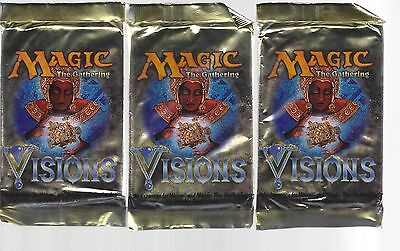 Magic The Gathering-Visions-Sealed Booster Pack-EnglishX3