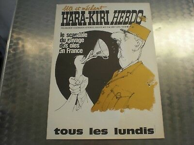 Ancienne Affiche Hara Kiri De Kiosque Avril 69 General De Gaulle N°10 Journal