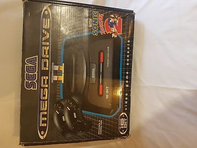 Sega Megadrive 2 in box with Sonic 1, Sonic 2 and 2 Official Controllers