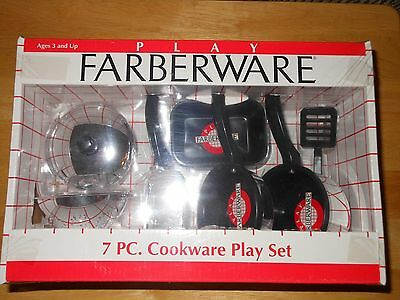 Play Farberware 7 PC. Cookware Play Set for Kids.