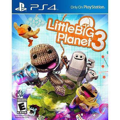 LittleBigPlanet 3 -- Day One Edition  (Sony PlayStation 4, 2014)  Brand New  PS4