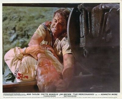 The Mercaneries - Rod Taylor - 8 British Lobby Cards