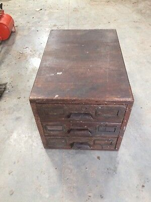 Vintage wooden plan chest. Artist architects document map drawers industrial./