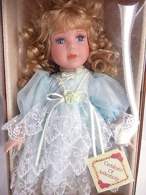 """Collector's Choice Limited Edition Genuine Fine Bisque Porcelain Doll in Box 14"""""""
