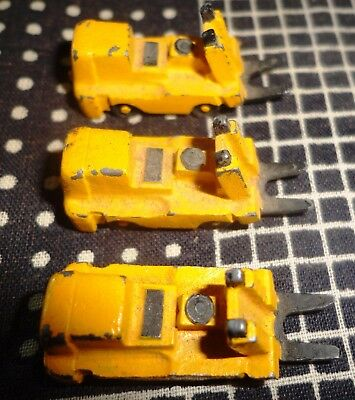 lot of 3  TT SCALE Forklifts for Train, Equipment, Etc.