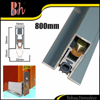 Automatic Door Bottom Seal Aluminum Weatherstrips Silicone Strip M11 Length 80cm