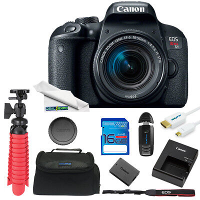 Canon EOS Rebel T7i DSLR Camera with 18-55mm Lens + Expo Essentials Series