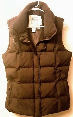 WOMEN'S EDDIE BAUER PREMIUM QUALITY GOOSE DOWN (700 fill) QUILTED VEST - LARGE
