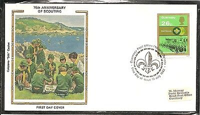 Guernsey SC # 248 Scouting Year- Cub Scouts Parading- FDC.Colorano Cachet.