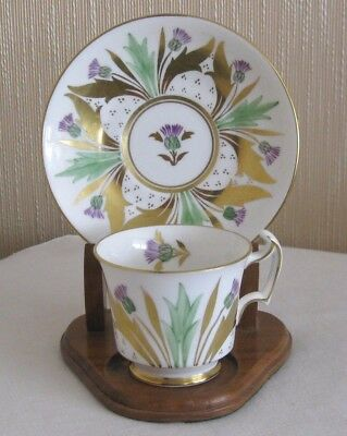 Royal Chelsea Thistle Cup and Saucer Gold Trim