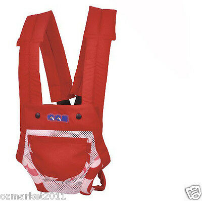 Red Security Two To Twelve Months Back-pack Baby Sling All Code/ !@&