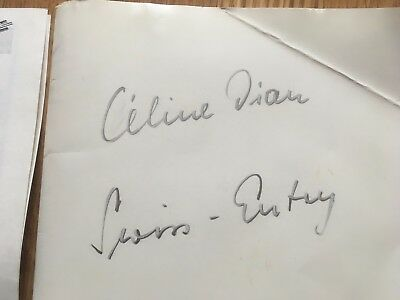 Very rare Celine Dion promo folder for 1988 Eurovision song contest