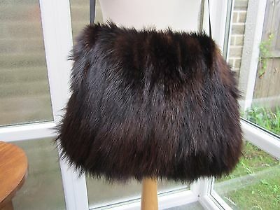 Real Fur Vintage Muff Hand Warmer