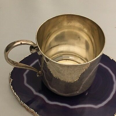 RARE c1890 French Sterling Silver Teacup Coffee : Adolphe Boulenger PARIS -L739