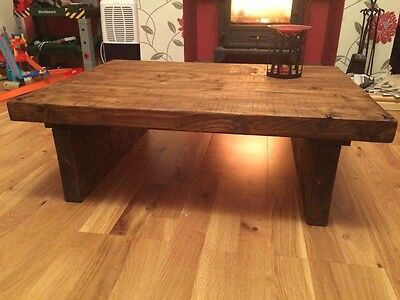Bespoke Hand Made Solid Wood Rustic Coffee Table