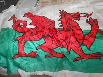 Welsh Flag Suitable For Flag Pole Ex Cond